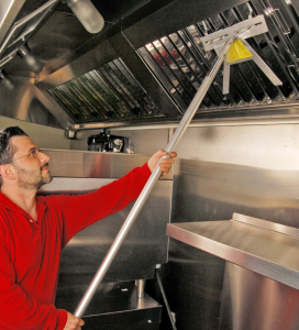 The Baffle Boss makes cleaning filters and reducing restaurant fire hazards easier.