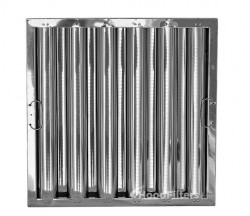 "20"" X 20"" X 2"" Kleen Gard Stainless Steel Hood Filter (Riveted / Smooth Baffles)"