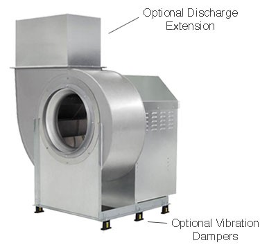 6000 cfm direct drive exhaust only unit with for Restaurant exhaust fan motor