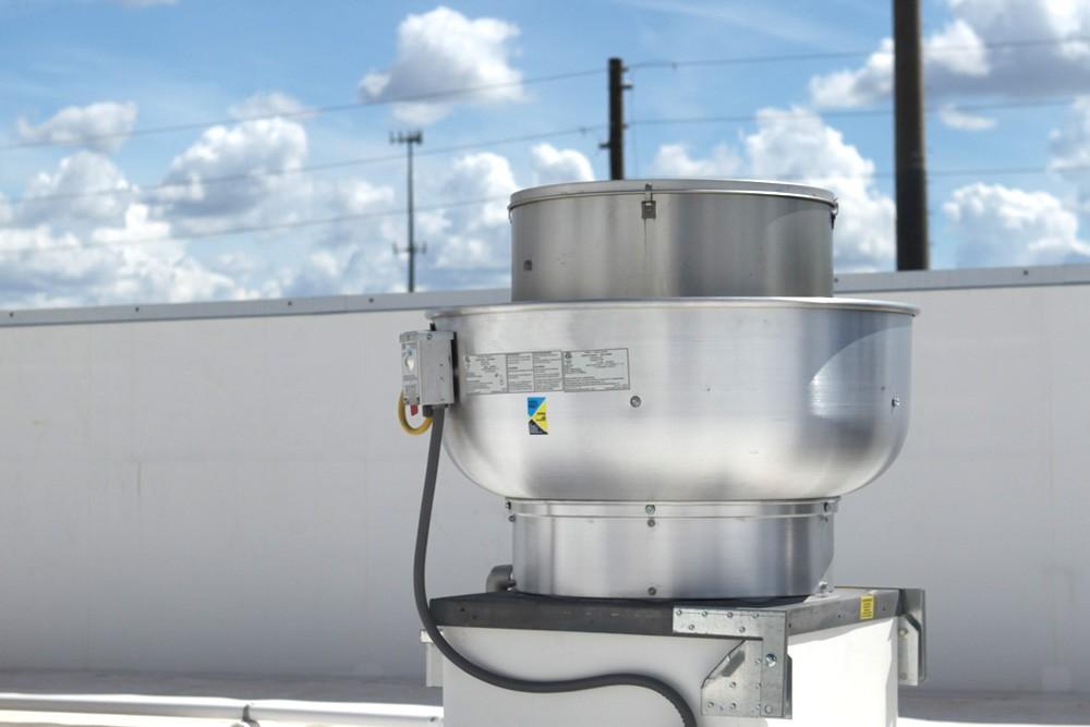 1000 Cfm Ventilation Fan : Cfm belt drive upblast exhaust fan with quot wheel