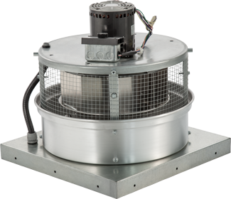 600 Cfm Direct Drive Downblast Exhaust Fan With 10 5
