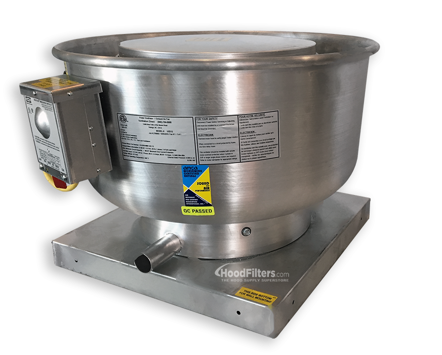 400 Cfm Direct Drive Upblast Food Truck Exhaust Fan With