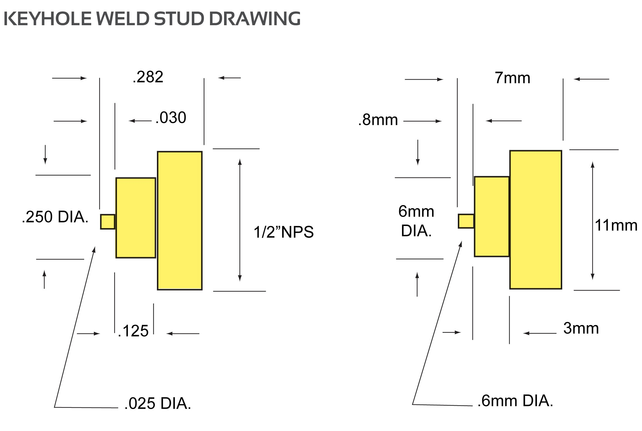 Stainless steel keyhole weld stud ccuart Gallery