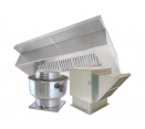 Hood and Fan Packages - 11' Type 1 Commercial Kitchen Hood and Fan System