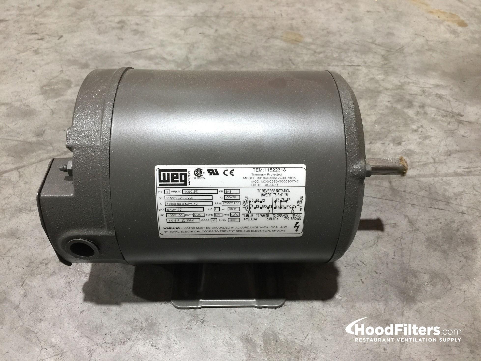 Single Phase .33 HP Motor