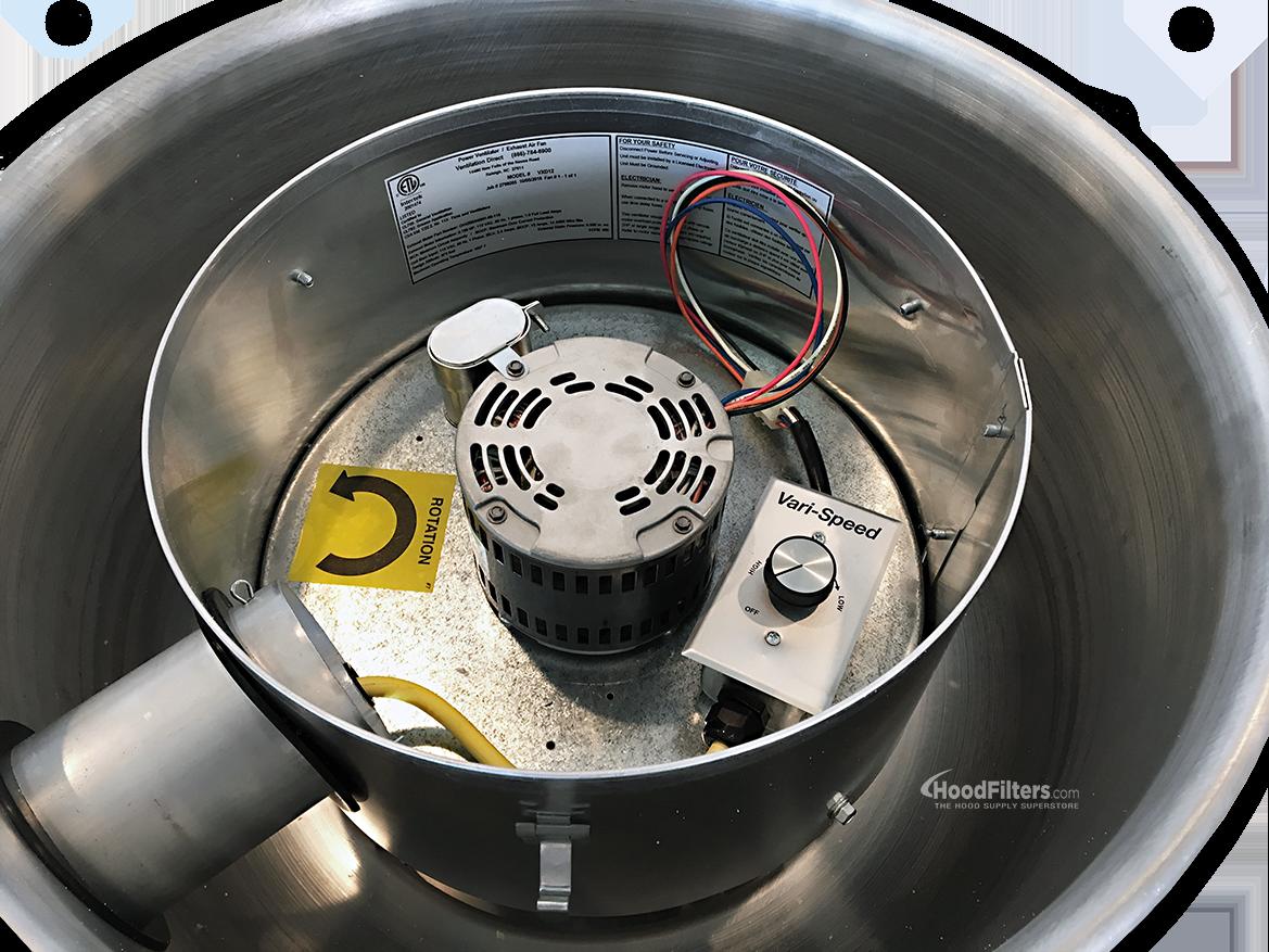1000 Cfm Ventilation Fan : Cfm direct drive upblast food truck exhaust fan