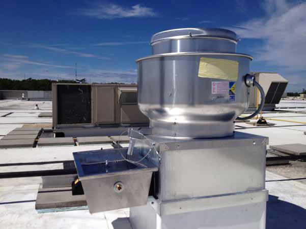 Exhaust Fan Grease Interceptor