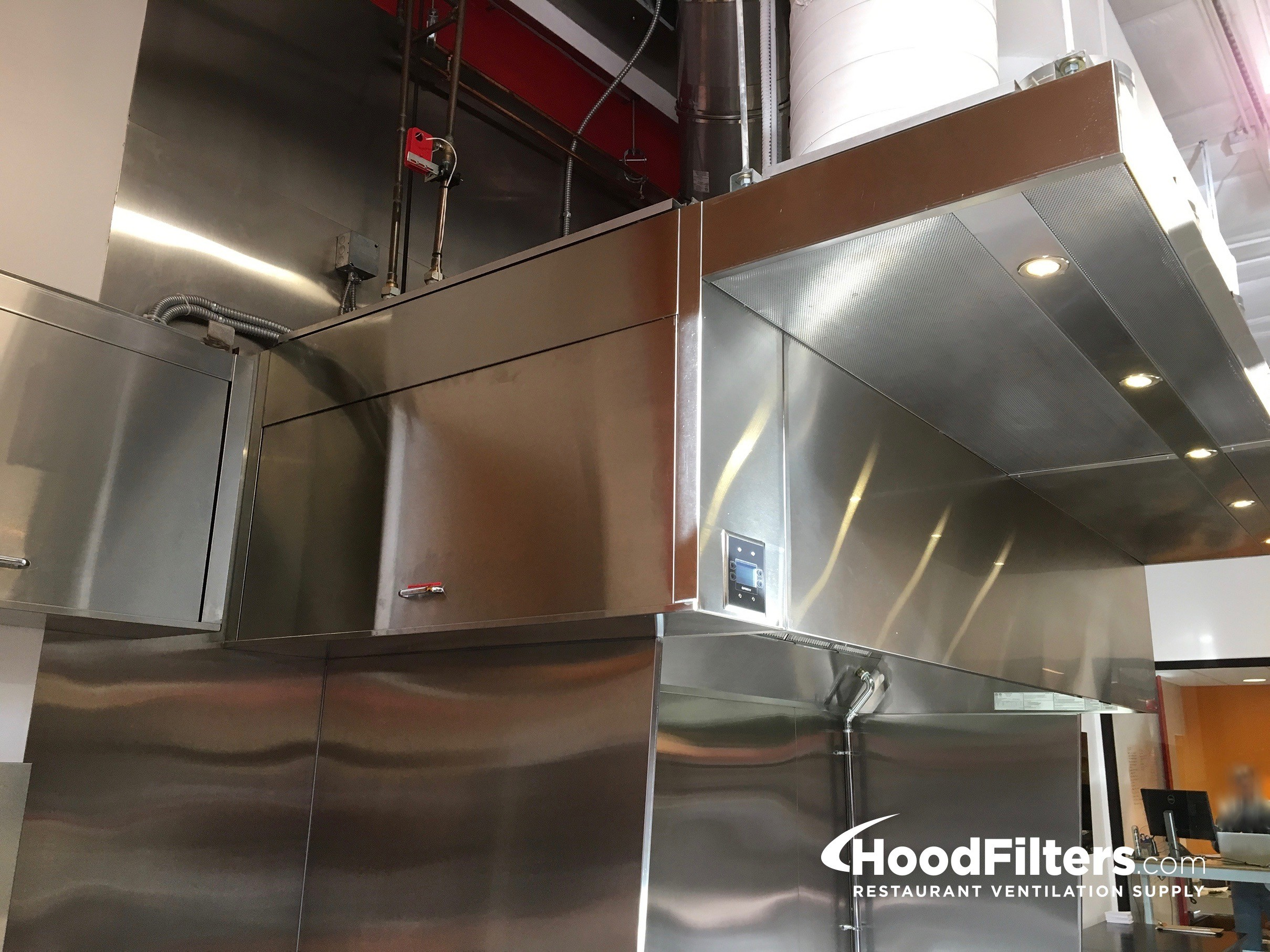 16 type 1 commercial kitchen hood and fan system