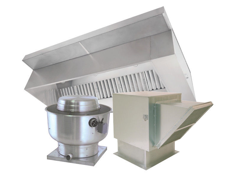 7\' Type 1 Commercial Kitchen Hood and Fan System