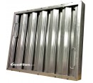 "Heavy Duty Aluminum Grease Filters - 16"" x 20"" x 2"" Trine Heavy Duty Aluminum Hood Filter (Dual Riveted / Ridged Baffle)"