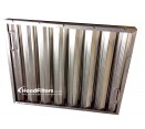 "Heavy Duty Aluminum Grease Filters - 20"" x 25"" x 2"" Trine Heavy Duty Aluminum Hood Filter (Dual Riveted / Ridged Baffle)"