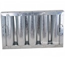 "Standard Galvanized Grease Filters - 10"" X 16"" X 2"" Kleen Gard Galvanized Hood Filter (Riveted / Smooth Baffles)"