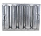 "Standard Galvanized Grease Filters - 12"" x 16"" x  2"" Kleen Gard Galvanized Hood Filter (Riveted / Smooth Baffles)"