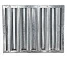 "Standard Galvanized Grease Filters - 16"" X 20"" X 2"" Kleen Gard Galvanized Hood Filter (Riveted / Smooth Baffles)"