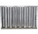 "Standard Galvanized Grease Filters - 16"" X 25"" X 2"" Kleen Gard Galvanized Hood Filter (Riveted / Smooth Baffles)"
