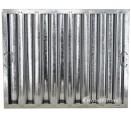 "Standard Galvanized Grease Filters - 20"" X 25"" X 2"" Kleen Gard Galvanized Hood Filter (Riveted / Smooth Baffles)"