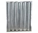 "Standard Galvanized Grease Filters - 25"" X 20"" X 2"" Kleen Gard Galvanized Hood Filter (Riveted / Smooth Baffles)"
