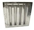 """Spark Arrestor Hood Filters - 16"""" x 16"""" x 2"""" Spark Arrestor Hood Filter with Riveted Bottom Hooks"""