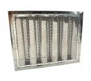 """Spark Arrestor Hood Filters - 16"""" x 20"""" x 2"""" Spark Arrestor Hood Filter with Riveted Bottom Hooks"""