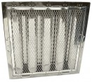 """Spark Arrestor Hood Filters - 20"""" x 25"""" x 2"""" Spark Arrestor Hood Filter with Riveted Bottom Hooks"""